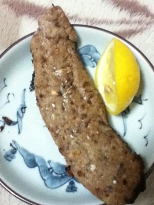秋刀魚の味噌つくね焼き