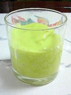 柿、みかん、アボガドのグリーンスムージー♪
