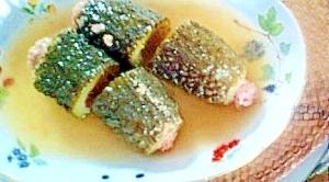 ゴーヤの肉詰め入りとろ味スープ
