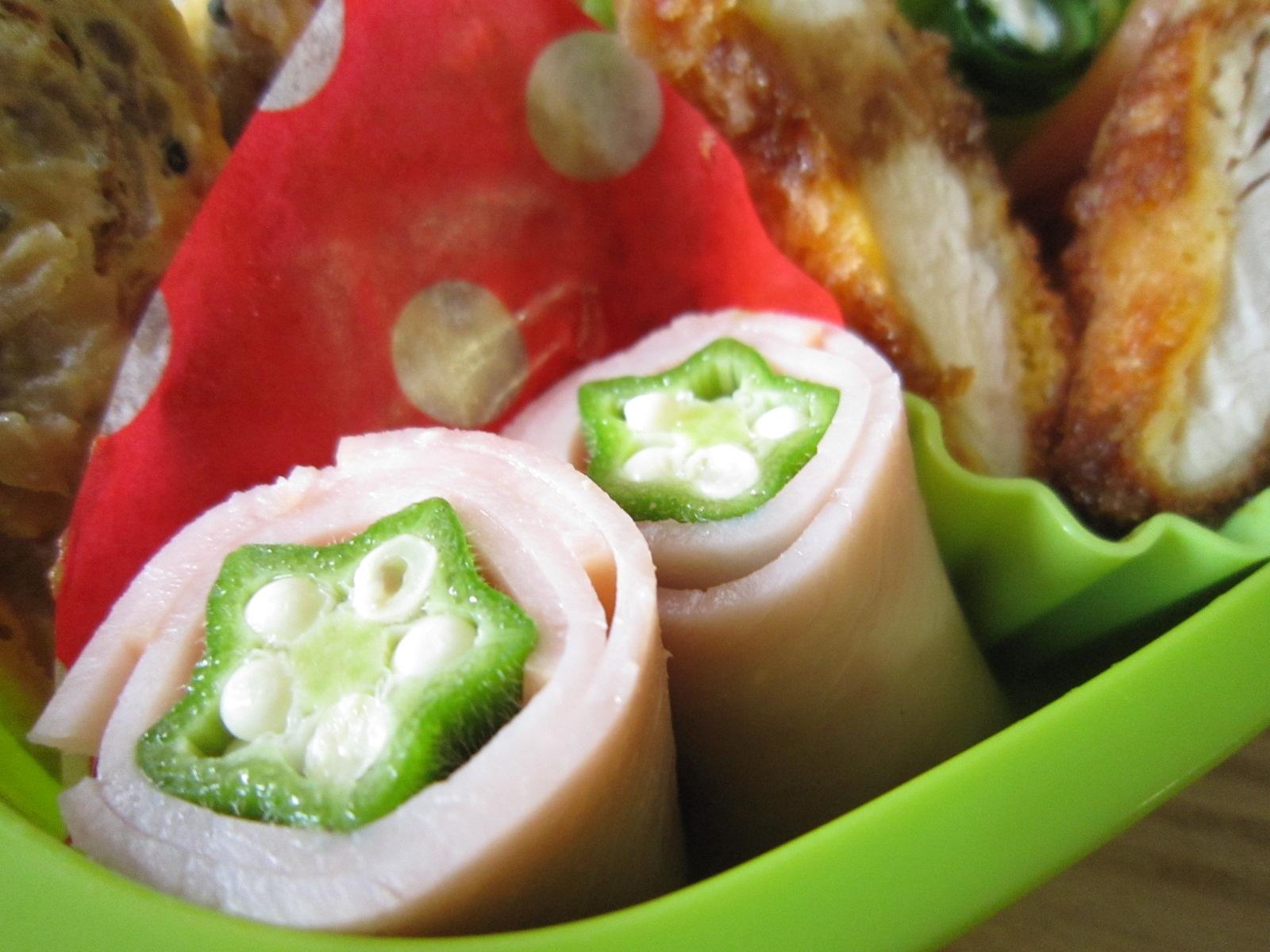 お弁当おかず☆クルクルハムオクラの隙間おかず レシピ・作り方
