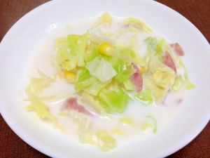 キャベツ ミルク スープ