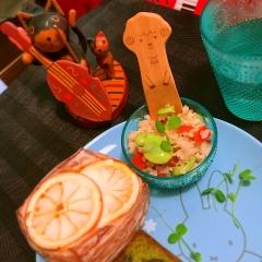 三十雑穀de空豆とトマトのベジライスサラダ