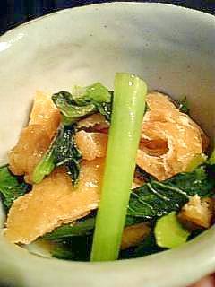 2. 小松菜と油揚げでコク旨おひたし