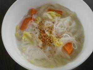 白菜と春雨のミルクスープ