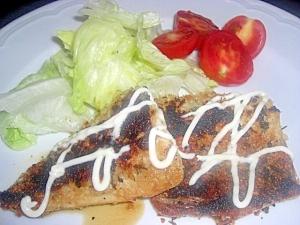 塩サバのパン粉焼き
