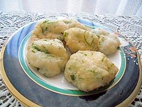 長芋と大葉のだんご揚げ