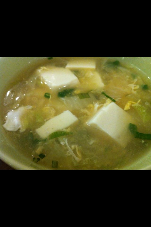 卵と豆腐のスープ