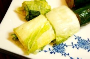 我が家の冬の常備菜、白菜の日本酒漬け