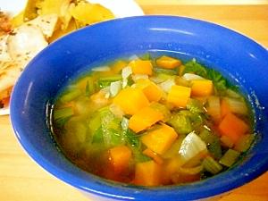 小松菜とにんじんのスープ