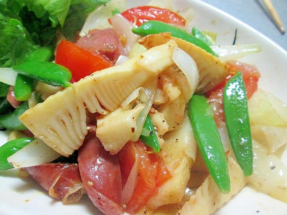 のらぼう菜としめじの柚子胡椒サラダ