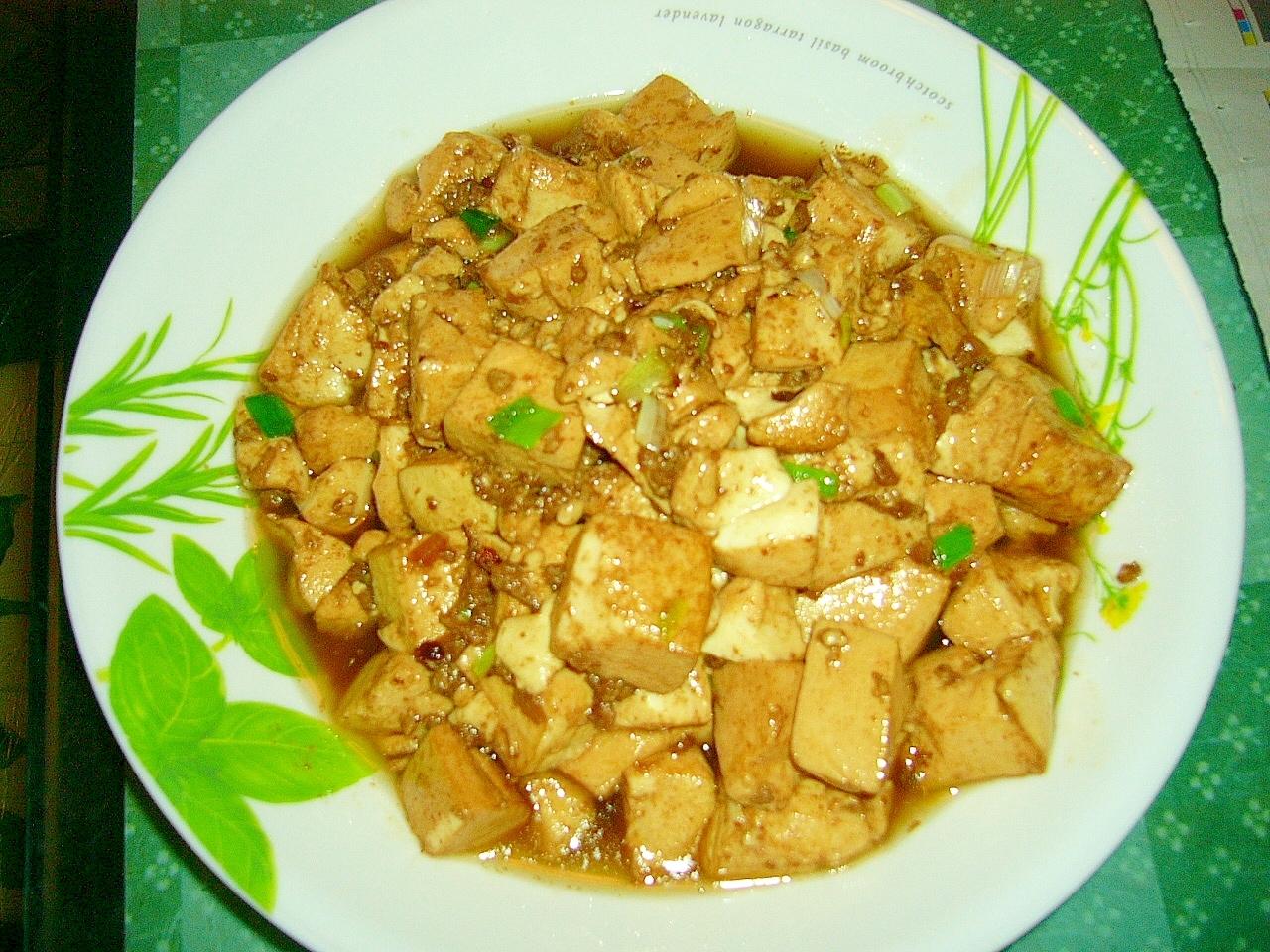 カキ油入れ煮豆腐
