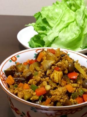コロコロ野菜とひき肉のドライカレー♪