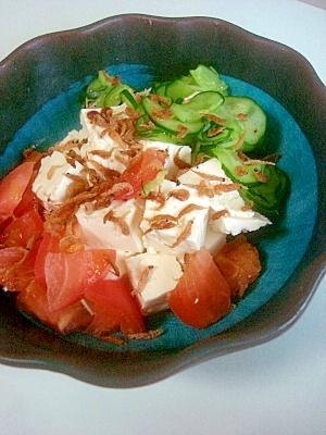 暑い夏の栄養レシピ!豆腐の野菜サラダ