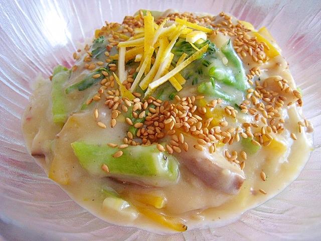 チーズの様な口溶♪椎茸セニョールのレモンクリーム丼