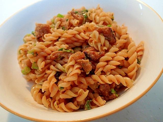 鴨皮とアスパラ菜の洋風クルル