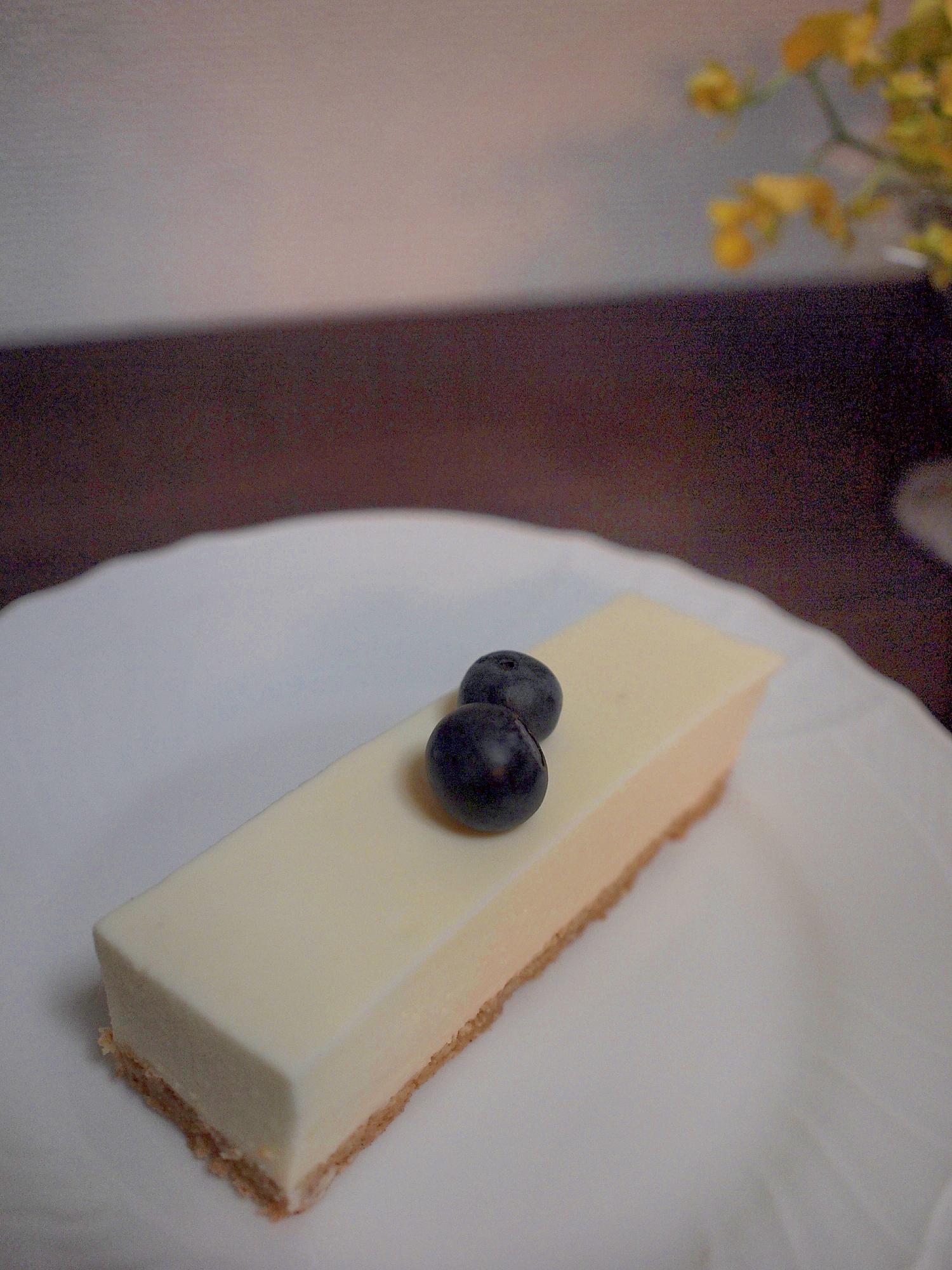 我が家の好評レアチーズケーキ