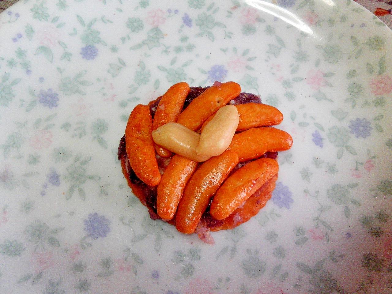 わさび柿の種&あんバターのリッツ