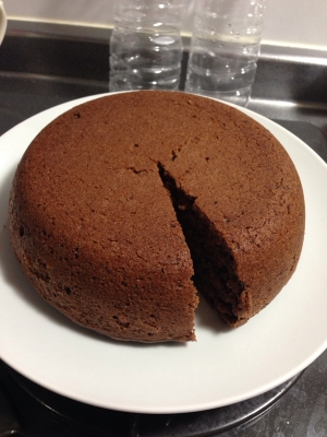 炊飯器ケーキチョコ