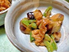 ■10分で..生姜風味のナスピーマン味噌炒め