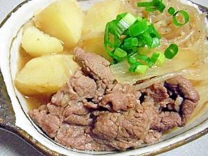 簡単♪麺つゆで作る肉じゃが♪