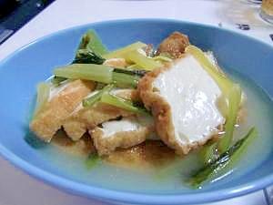 小松菜と厚揚げのだし煮