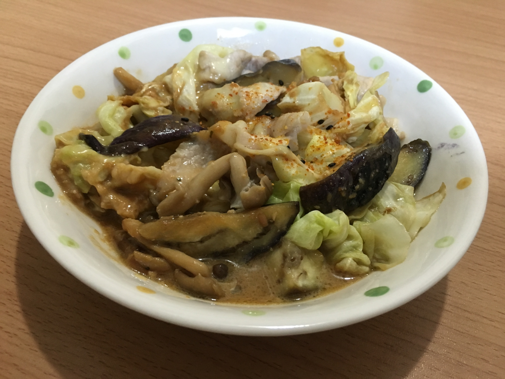 3. ピリ辛チーズ炒め