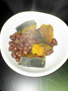 ほっこり甘い~小豆とカボチャを炊きました