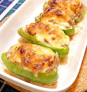 肉詰めピーマンのとろ~りチーズオーブン焼き レシピ・作り方 by ☆メリッコ☆|楽天レシピ