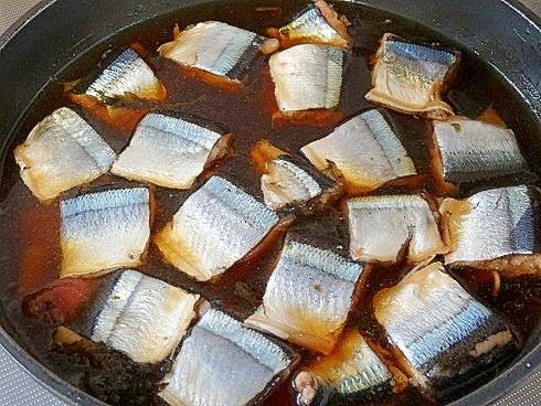 うちのおかず「サンマの梅煮」