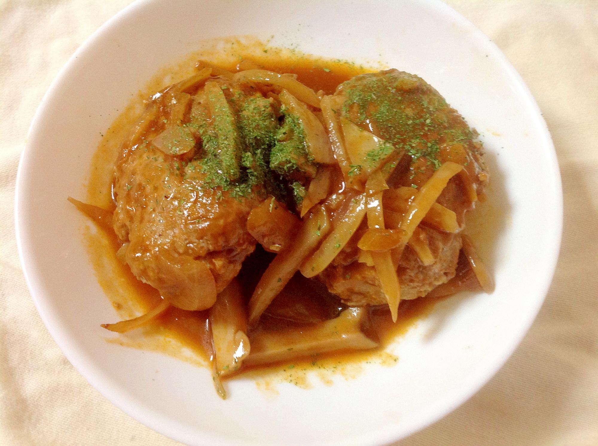 豆腐ハンバーグの簡単♪煮込みハンバーグ(o^^o)