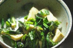 あと一品という時に☆高野豆腐と菜っ葉のソテー
