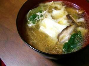 青梗菜とザーサイの中華スープ