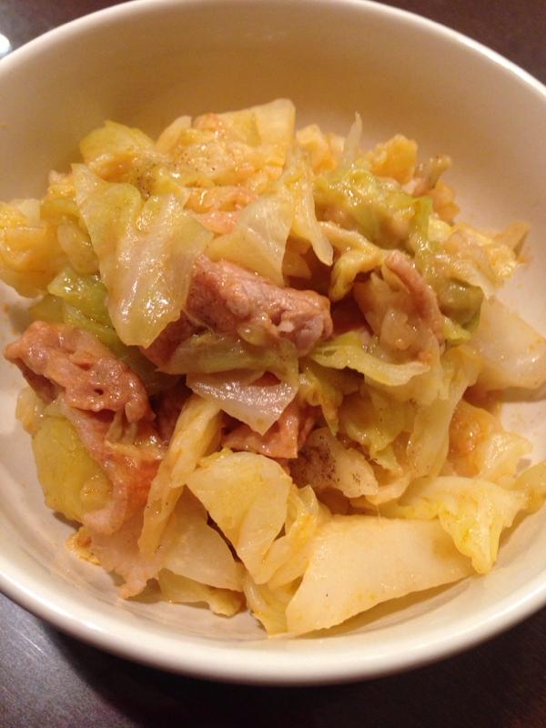 15分♪豚コマとキャベツのチーズケチャップ煮 レシピ・作り方 by ha.ru.ko|楽天レシピ