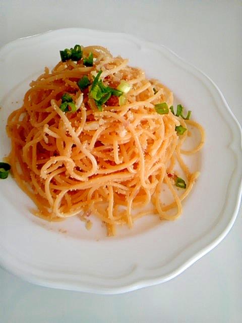 ミョウガのタラコスパゲッティ