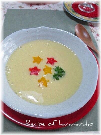 豆乳でクリスマスのコーンスープ♪