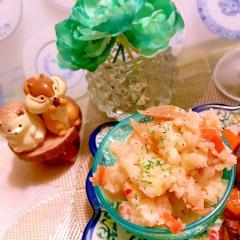 出汁と醤油がきいてる~きんぴらポテトサラダ