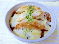 冷凍餃子の焼きカレー