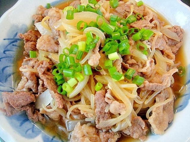 牛肉としらたきの甘辛煮