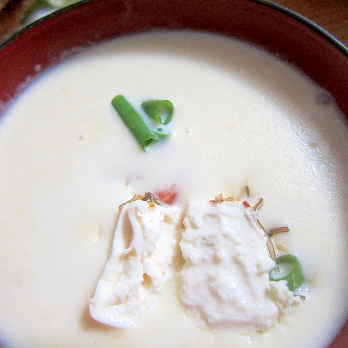 キャンベル豆腐サーモン葱スープ