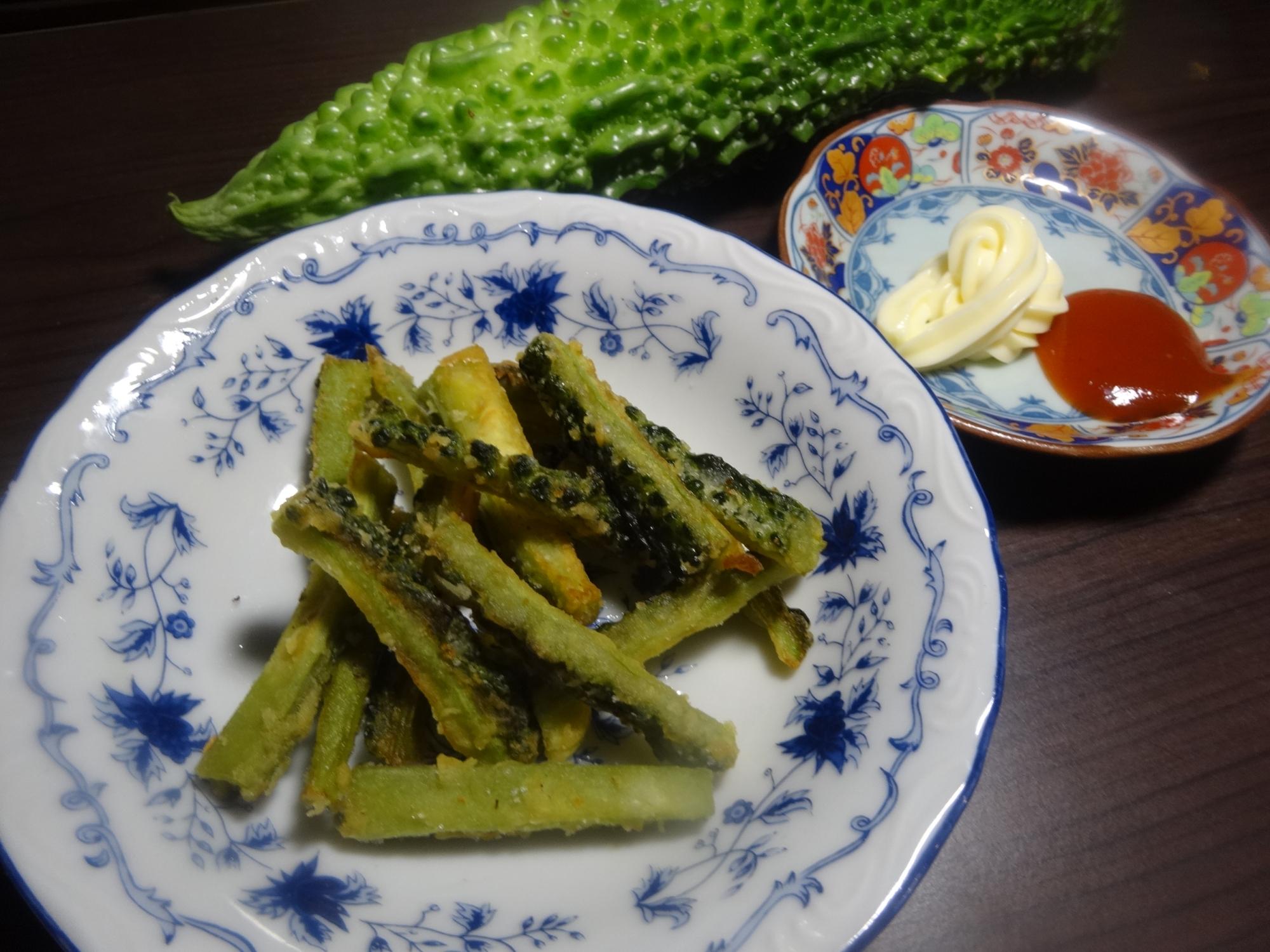 バクバク食べられる♪ゴーヤチップス(^O^)