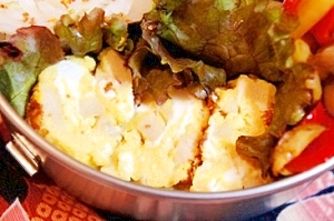 弁当救世主伝説182、高野豆腐の玉子焼き