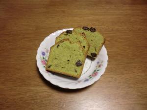 抹茶と甘納豆のパウンドケーキ