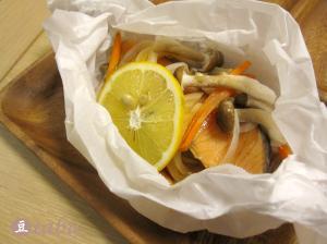 レンジでチン♪簡単鮭の包み焼き風