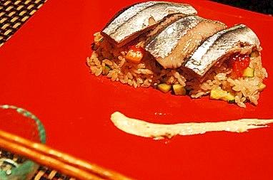 オードブルにも、秋刀魚の洋風寿司