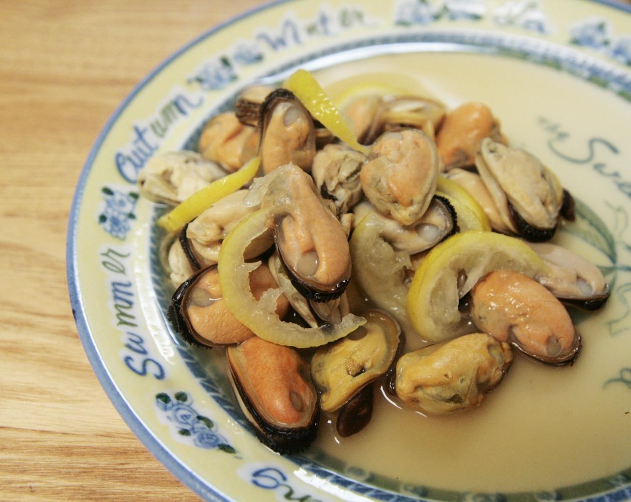 和風に♪ムール貝のゆずしょうゆ煮