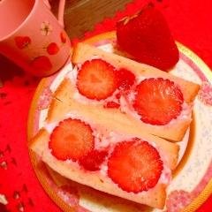 苺のラズベリーッチ♥サンドイィーッチ