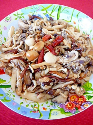 塩麹で保存食☆色々使える!きのこのペペロンチーノ