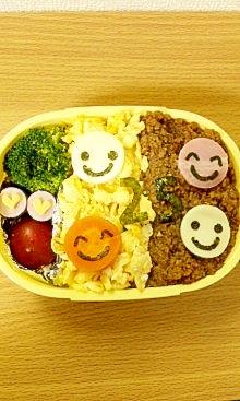 甘辛味でご飯が進む☆簡単ヘルシー2色そぼろ弁当