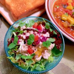 きくらげと彩り野菜のお豆腐サラダ