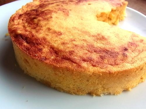 オーブントースターでチーズ風味のかぼちゃケーキ